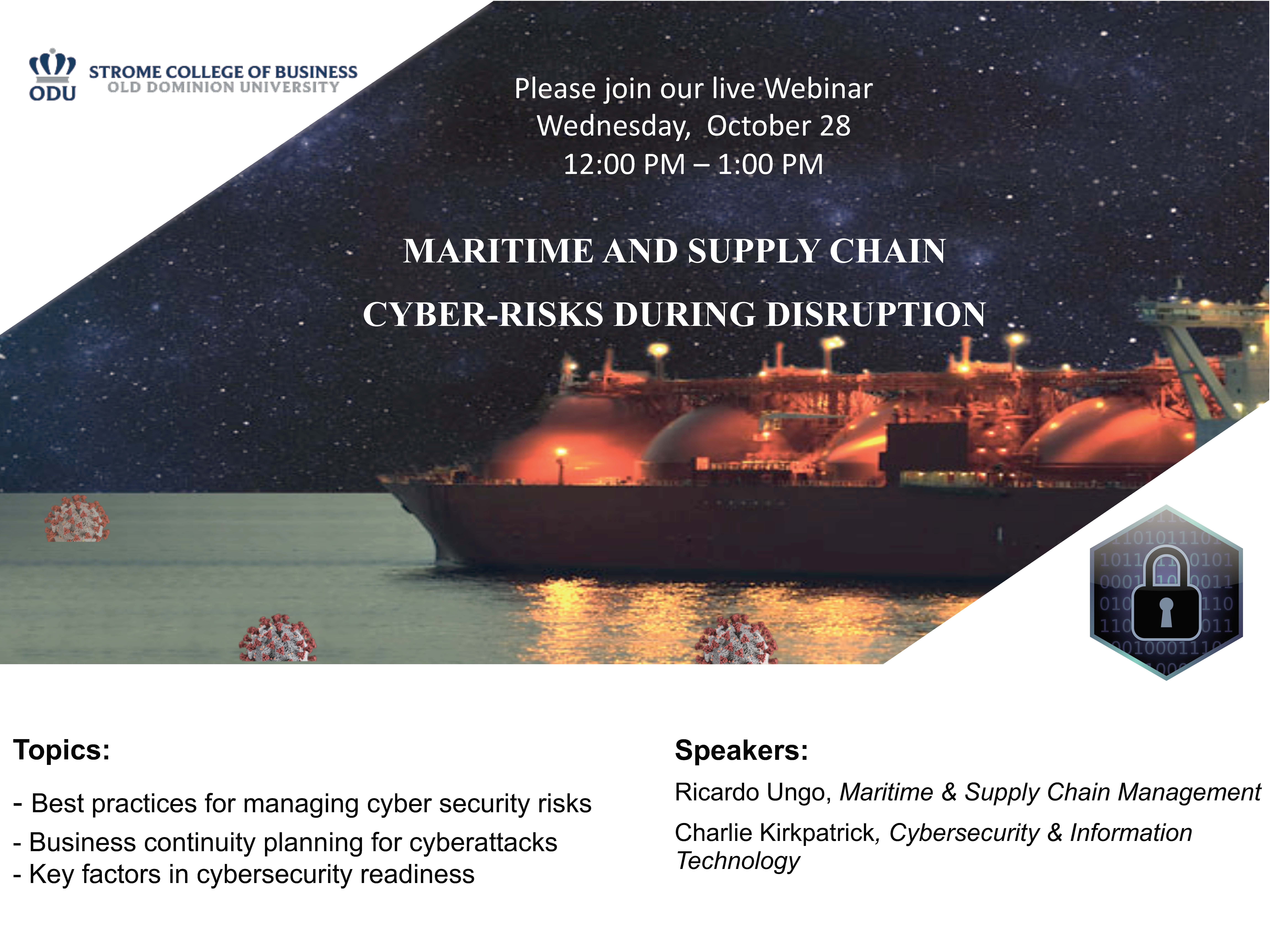 Maritime and Supply Chain Cyber-Risks During Disruption